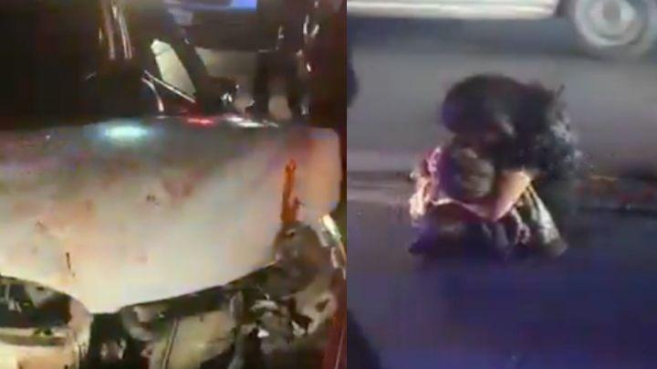"""""""No me dejes"""": Uriel de 3 años muere en accidente; en VIDEO, su madre llora y abraza su cadáver"""