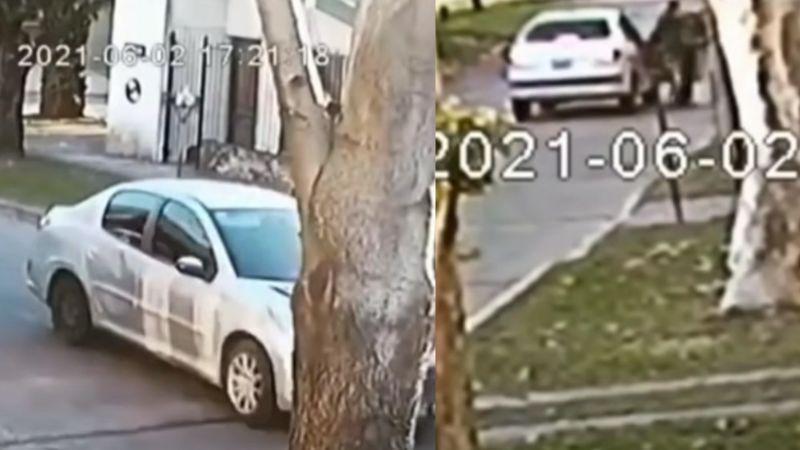 FUERTE VIDEO: A plena luz del día, intentan 'levantar' a joven; se tira del auto y la atropellan