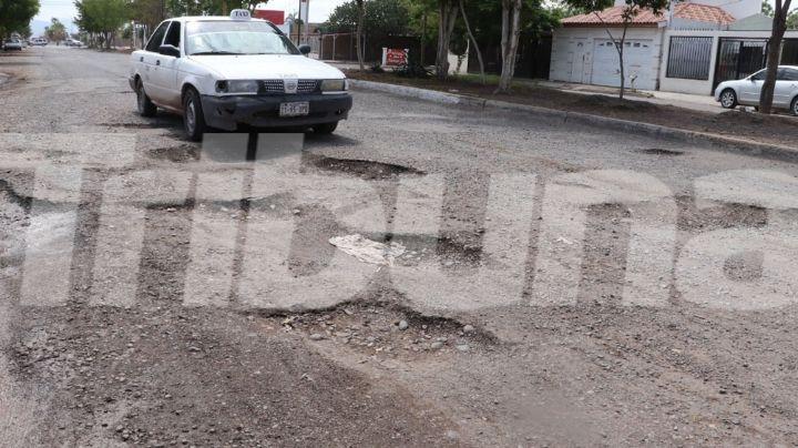 Incrementa el número de baches en Ciudad Obregón con las recientes lluvias