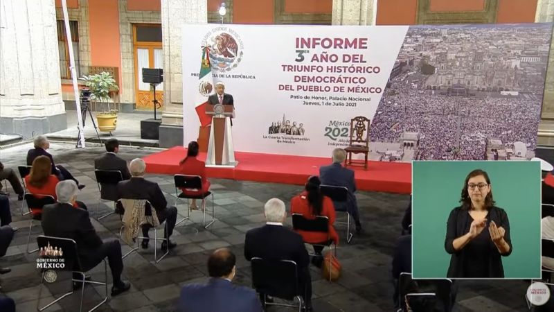 "Informe de Gobierno: Pese a 91 asesinatos de políticos, AMLO afirma que ""no se desató violencia"""