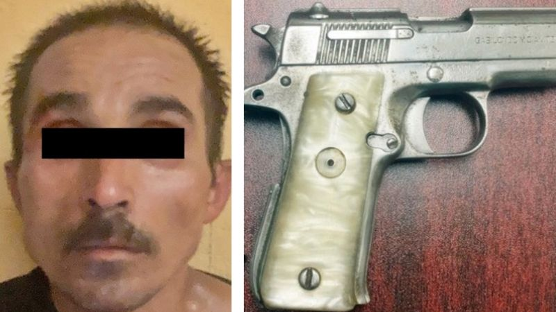 Cae sujeto que intentó matar a tiros a dos policías en Hermosillo; tiene antecedentes penales