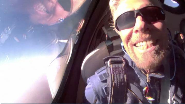 (VIDEO Y FOTOS) Virgin Galactic: Así fue el increíble vuelo de Richard Branson al espacio