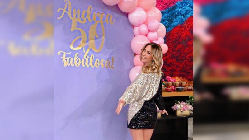 Tras convertirse en madre e 'infidelidad', Andrea Legarreta celebra sus 50 años y así es cómo luce