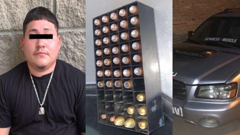 Cae Esteban en frontera Sonora-Arizona; intentó cruzar con 42 cartuchos de arma de fuego