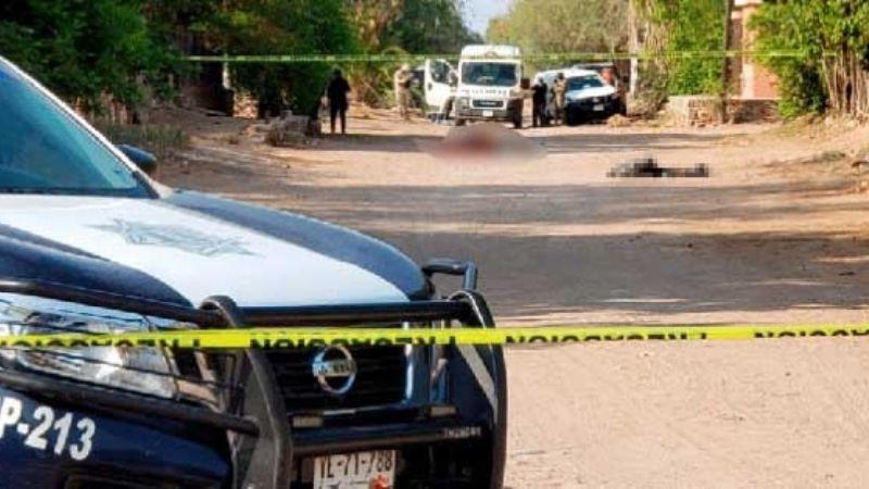 Se enfrentan grupos criminales a balazos en Ortiz; hay cinco personas sin vida