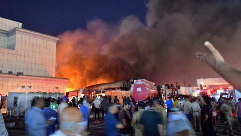 VIDEO: Voraz incendio consume hospital Covid-19 en Irak; más de 90 personas fallecieron