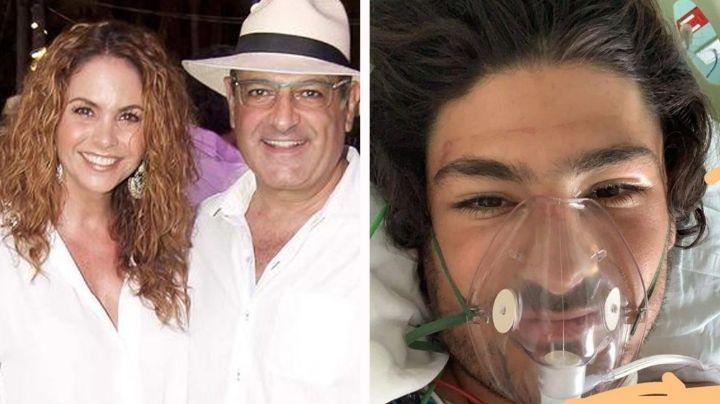 ¡Casi queda paralítico! Así continúa hijastro de Lucero tras sufrir brutal accidente de paracaídas