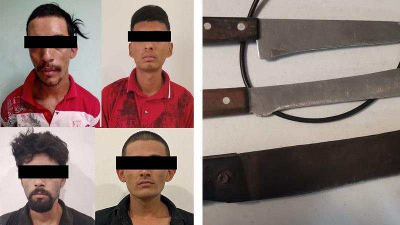 Capturan a asaltante y a cuatro presuntos 'tiradores' en calles de Ciudad Obregón