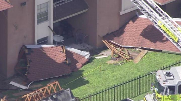 Terror en Miami: Se derrumba el techo de otro complejo habitacional
