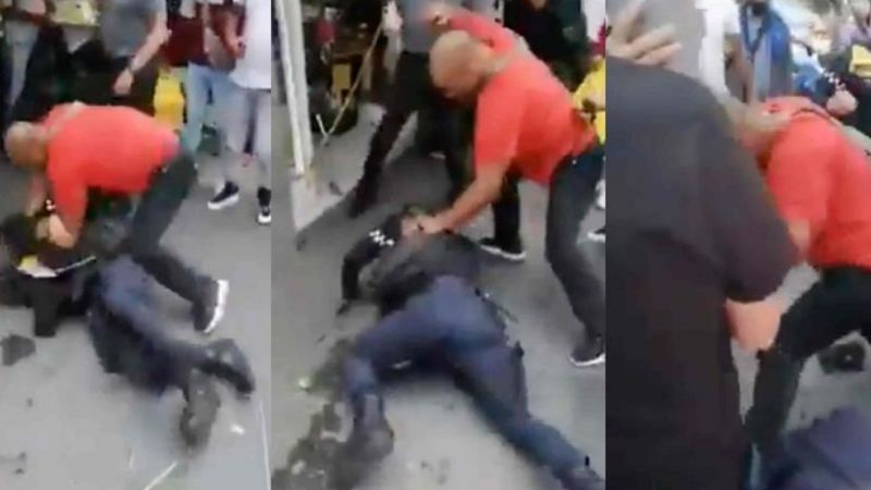 VIDEO: Propinan brutal golpiza a dos policía de la CDMX para evitar colocación de 'araña'