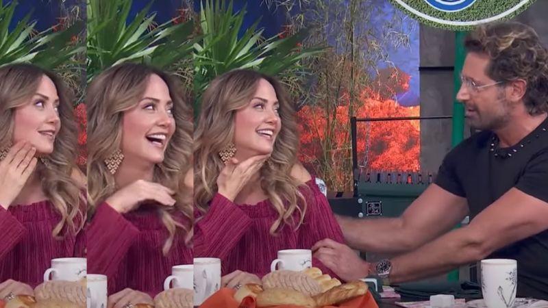 """¡Golpe a Irina Baeva! Gabriel Soto le 'coquetea' a Andrea Legarreta al aire en 'Hoy': """"Qué bárbara"""""""