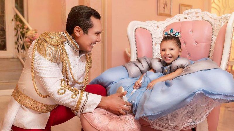 ¡Como una película de Disney! Así celebró Edwin Luna, el cumpleaños de su hija Gianna