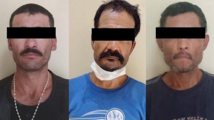 Sorprenden a tres 'tiradores' en San Luis Río Colorado; llevaban 17 envoltorios de droga