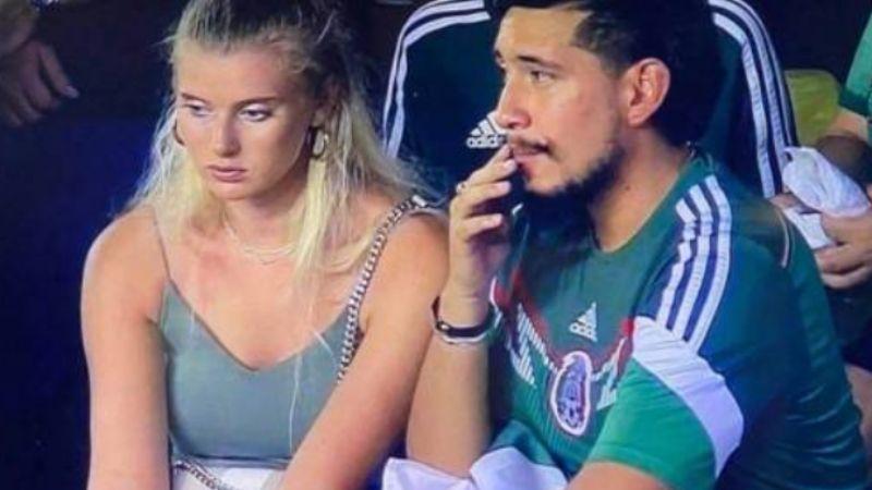 """Alfredo y Shae: La pareja que se volvió viral durante el partido Guatemala vs México por una """"pelea"""""""
