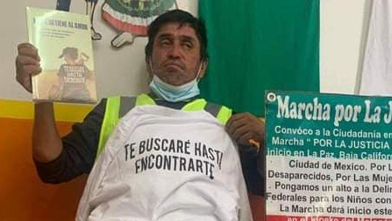 Localizan con vida a José Eloy Espinoza; caminaba a la CDMX para buscar a su hijo desaparecido