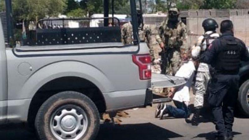 Caen tres presuntos sicarios al sur de Ciudad Obregón; les aseguran auto y armas de fuego