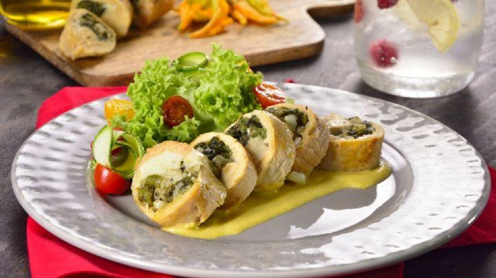 ¡Ideal para el almuerzo! Consiente a tu familia con estas pechugas rellenas de calabaza
