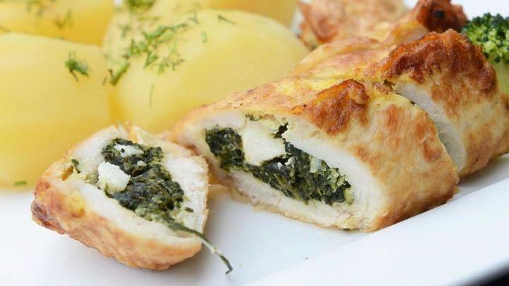 ¡Simplemente delirante! Este pollo relleno de queso y verduras cambiará tu día por completo