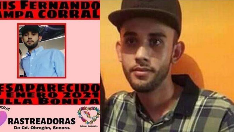 Cajeme: Restos hallados enterrados en patio serían de Fernando Campa, desaparecido desde enero