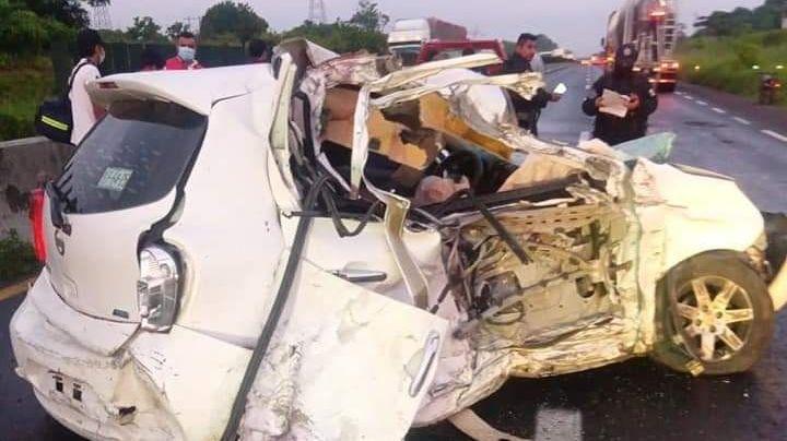 Una víctima mortal: El saldo del brutal accidente en la carreteraNuevo Teapa-Cosoleacaque