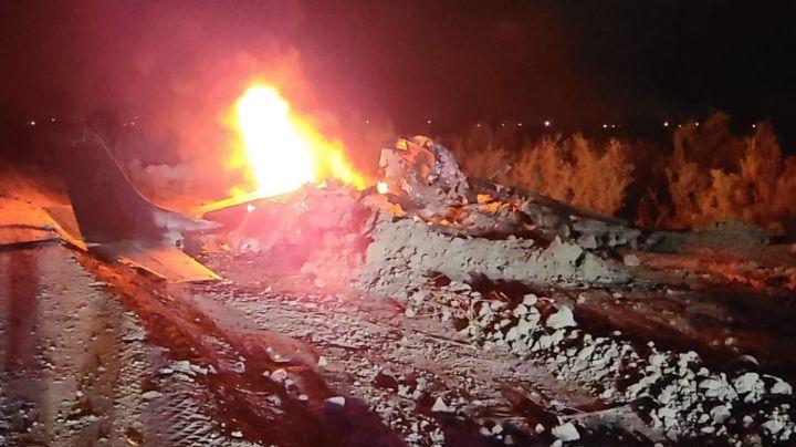 Tragedia en Mexicali: Cae avioneta en el valle y mueren dos quemados vivos; uno salió disparado