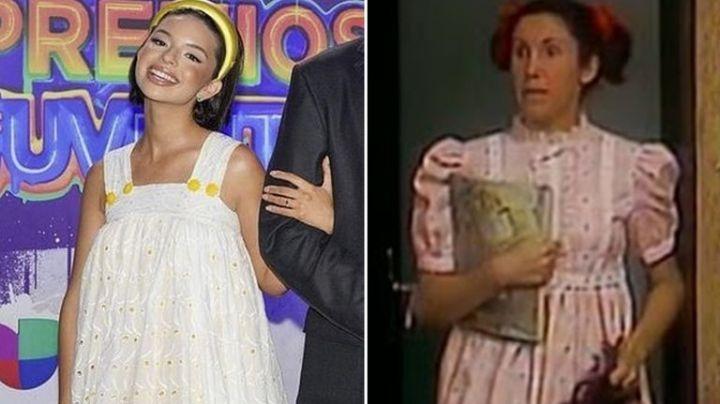 ¡Míralo eh! Tunden a Ángela Aguilar en redes; la comparan con 'La Popis' de 'El Chavo del 8'