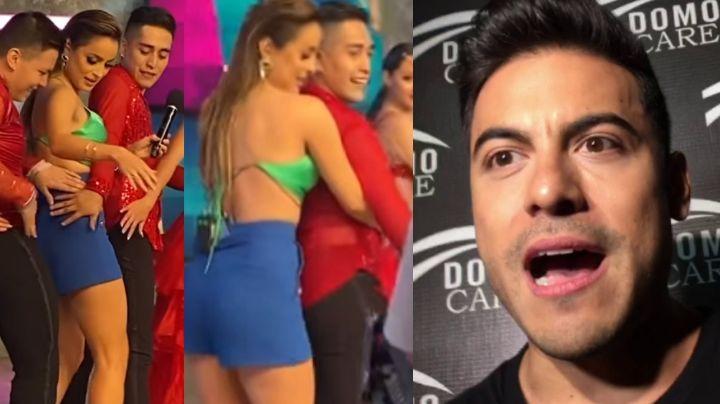 """¡Golpe a Carlos Rivera! Cynthia Rodríguez hace esto en vivo con hombres y la tunden: """"Qué vergüenza"""""""