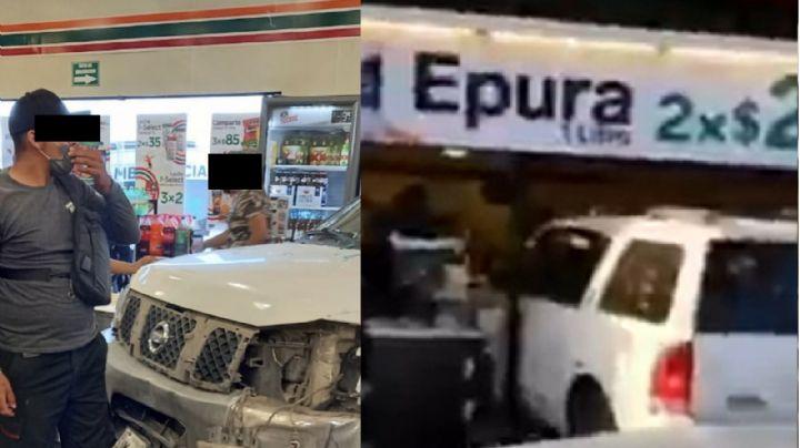 VIDEO: ¡De no creerse! Camioneta colisiona contra tienda y atropella a Rosa y a su hijo de 7 años