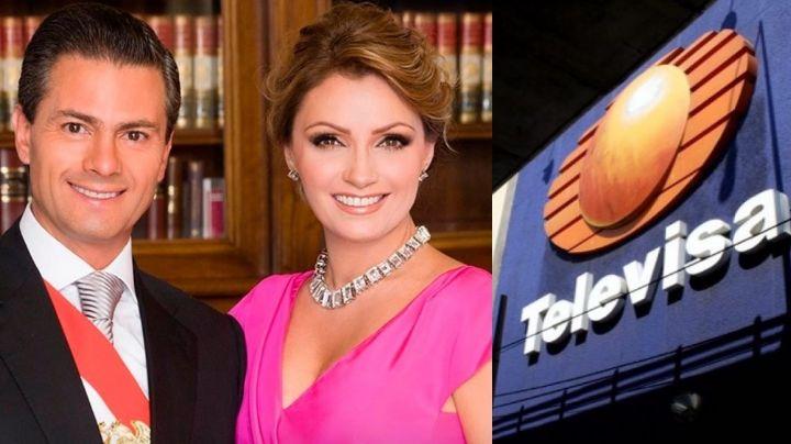 ¿Peña Nieto? Ex de Angélica Rivera la 'traiciona' en TV Azteca y exhibe sus planes en Televisa