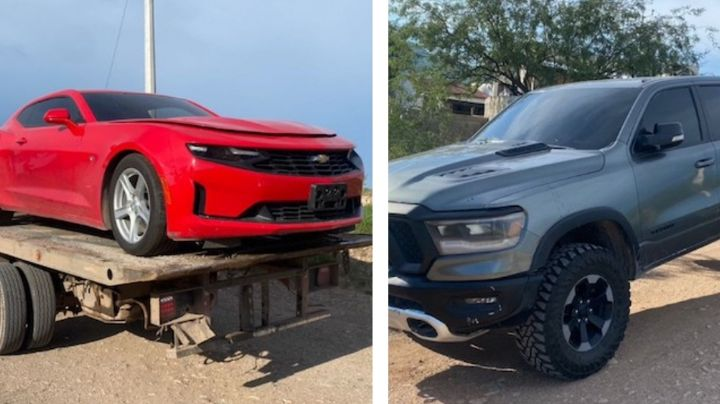 Encuentran otros dos autos abandonados en Magdalena de Kino; tenían reporte de robo