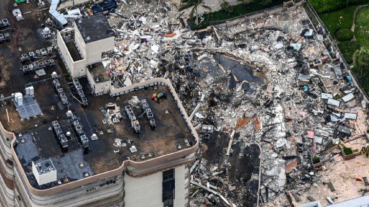 Autoridades de Miami demolerán resto de edificio colapsado; temen a la tormenta Elsa