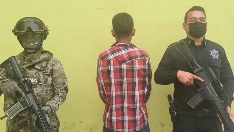 Capturan a menor de edad armado al norte de Ciudad Obregón; fue denunciado por vecinos