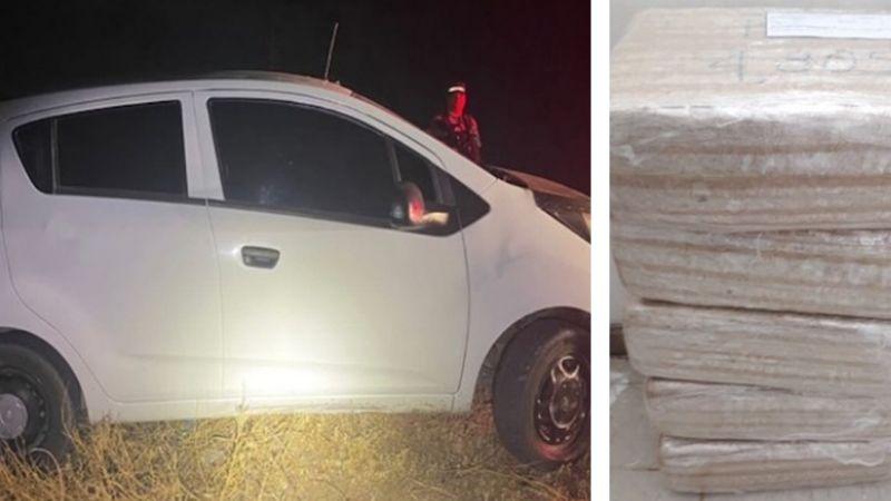 Descubren automóvil abandonado en Caborca; tenía 24 kilos de marihuana en su interior