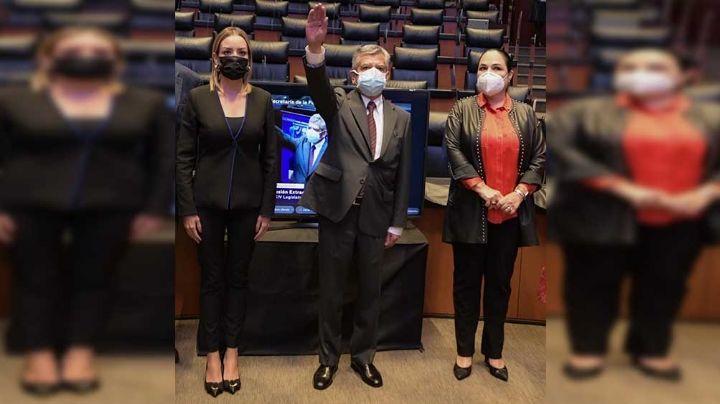 Senado toma protesta de Roberto Salcedo como nuevo secretario de la Función Pública