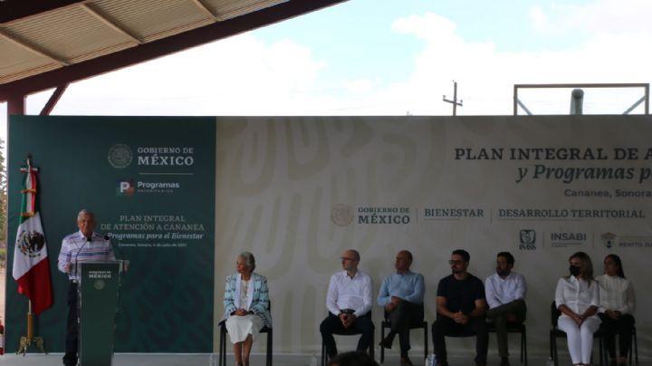 Atenciónintegral, contaminación y programas del Bienestar, las metas de AMLO en Cananea