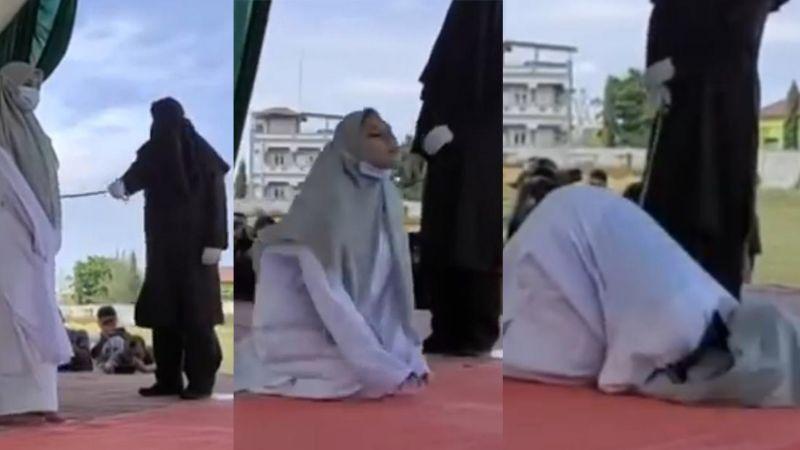 FUERTE VIDEO: Flagelan a mujer en público como castigo y acaba desmayada; le dieron 100 latigazos