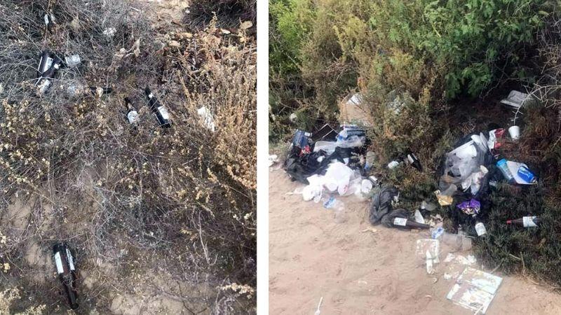 Denuncian a fiesteros 'cochinos' en San Carlos; dejaron las playas llenas de basura