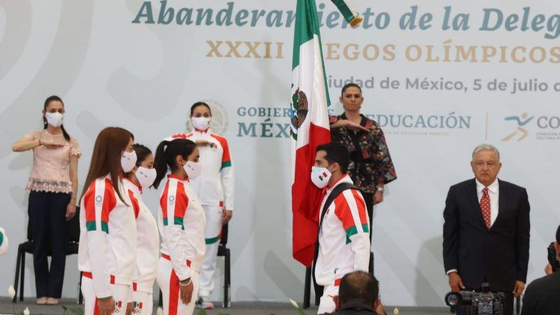 ¡Va por México! Abanderan a la delegación azteca para los Juegos Olímpicos de Tokio 2020