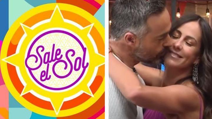 """VIDEO: Conductores de 'Sale el Sol' se besan en vivo ¡pero ella tiene novio!: """"Se traen ganas"""""""