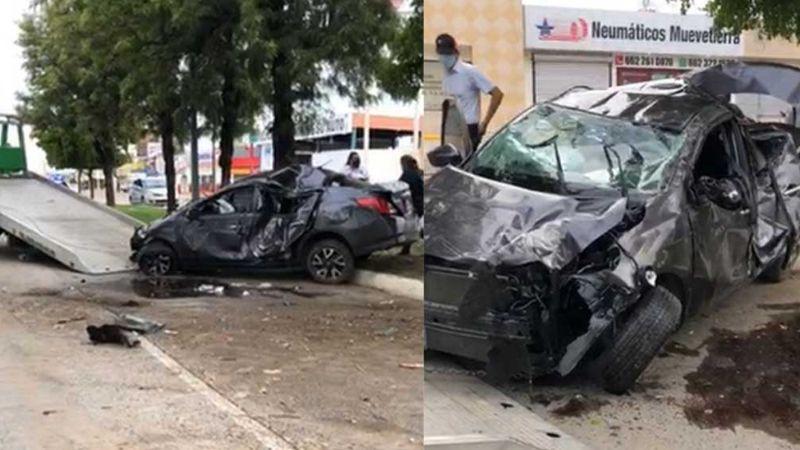 ¡De milagro! Joven se salva de morir en impresionante volcadura ocurrida en Hermosillo