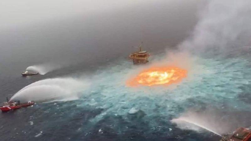 Pemex aclara las causas que originaron el incendio en plataforma de Campeche
