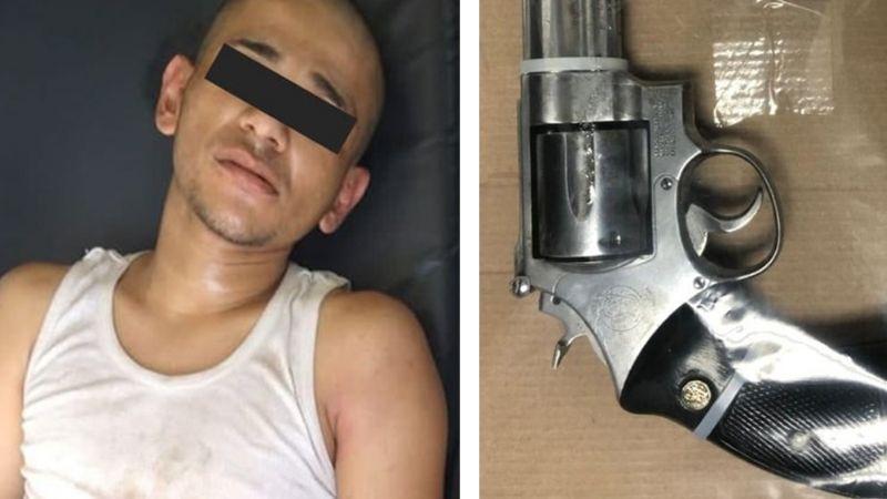 Ciudad Obregón: Lo sorprenden con arma de fuego cargada y lo ponen tras las rejas