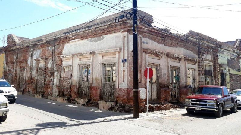Edificaciones antiguas de Guaymas, una bomba de tiempo; están a punto de colapsar