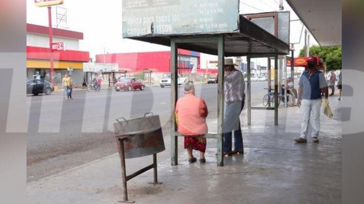 Paradas de autobuses se encuentran en condiciones deplorables en Ciudad Obregón