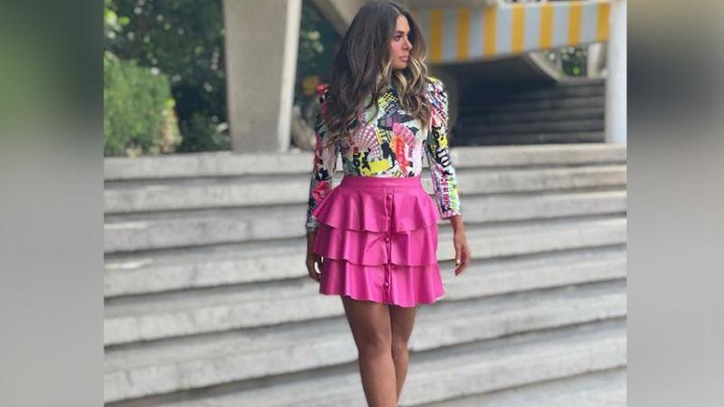 """Galilea Montijo sorprende a Instagram al lucir inesperado vestido desde Televisa: """"Ay Dios mío"""""""