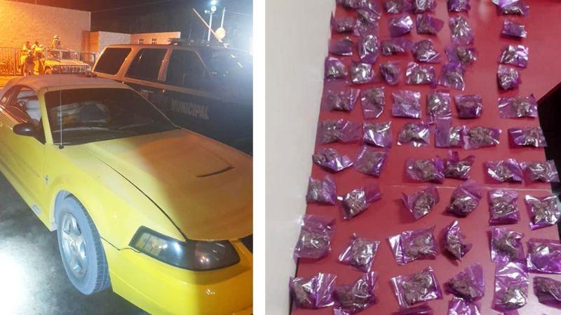 Sonora: Caen cuatro menores con más de 100 envoltorios de marihuana, 'crystal' y heroína