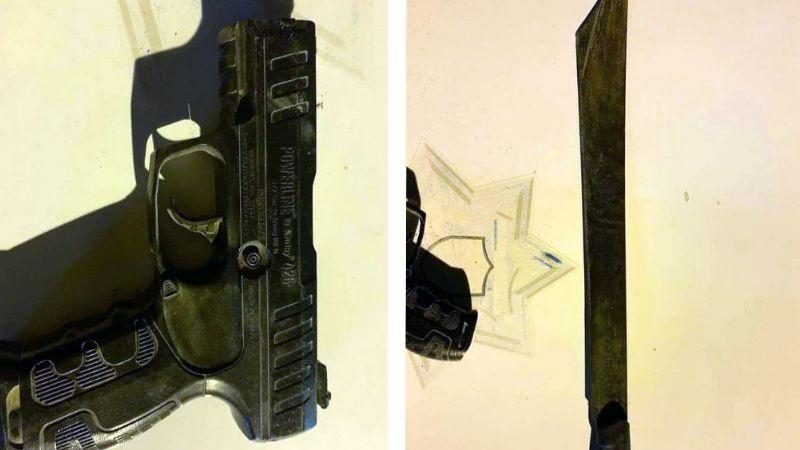 Los sorprende la Policía con machete y pistola de plástico en San Luis Río Colorado