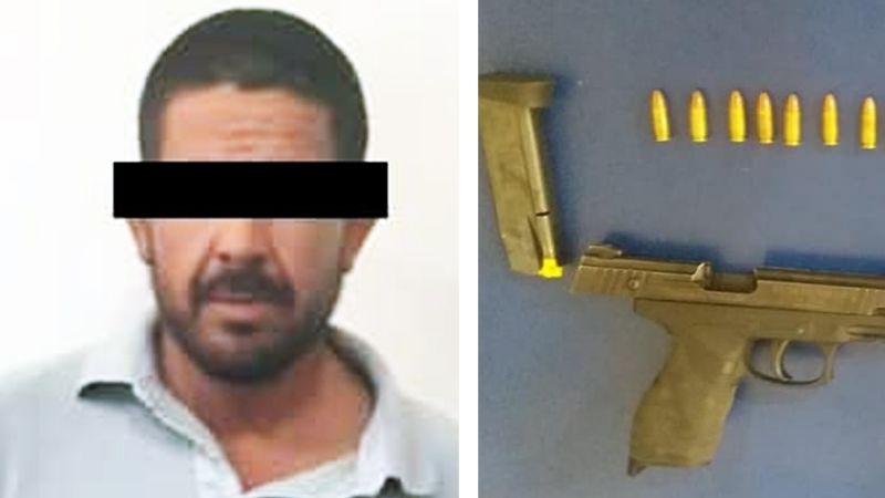 Cajeme: Agarran a Jesús con arma de fuego dorada y 15 envoltorios de droga en Cócorit