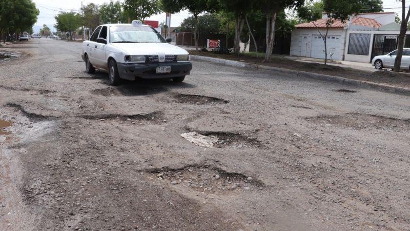 Ayuntamiento de Cajeme da solo un 'mejoralito' en el tema de vialidades y baches