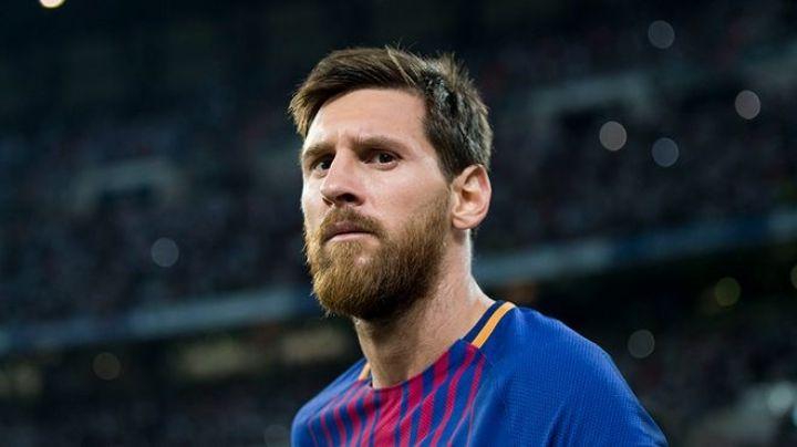 Barcelona empieza a olvidar a Messi; quitan su imagen de la fachada del Camp Nou